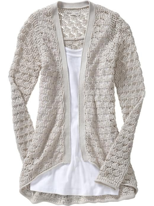 Crochet Patterns For Women s Cardigans : open front crochet cardigan Clothes Pinterest