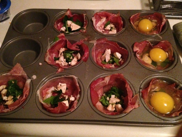 Fit Girl in Progress: Prosciutto and egg cups