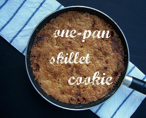 One-pan Caramel and White Chocolate Chunk Skillet Cookie | Recipe