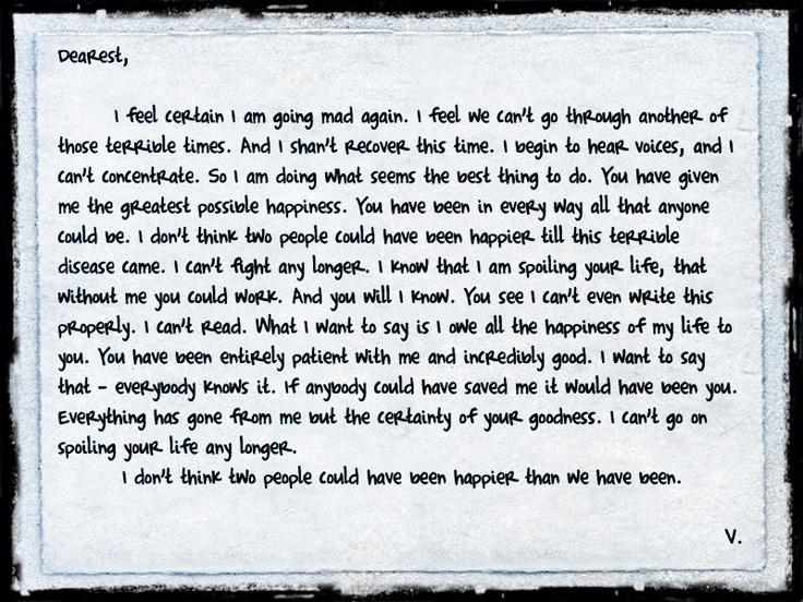 Virginia Woolf S Last Letter