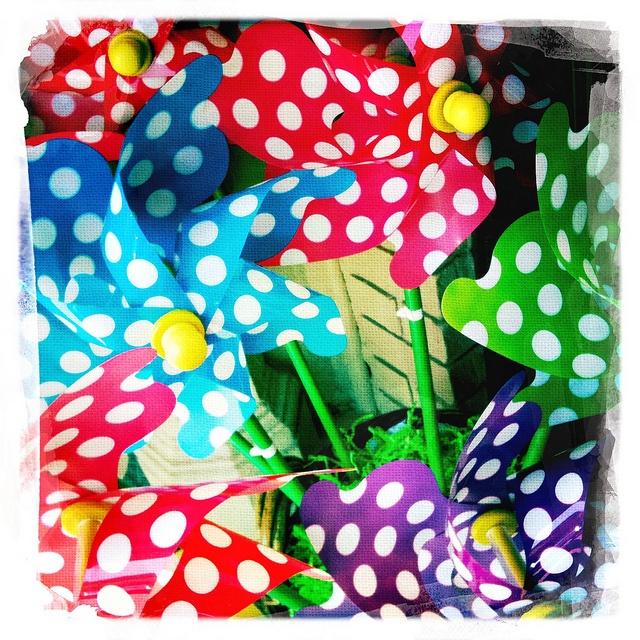 Polka dot pinwheels