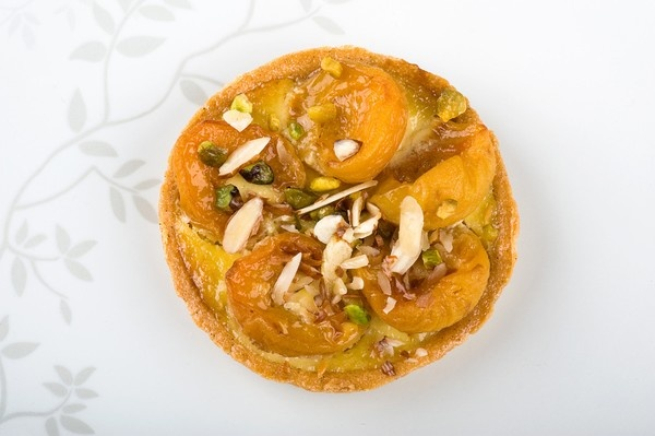 Apricot, Honey And Pistachio Tart Recipe — Dishmaps