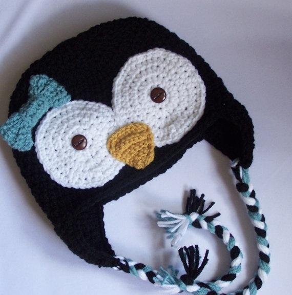 penguin hat Crochet & knitting Pinterest