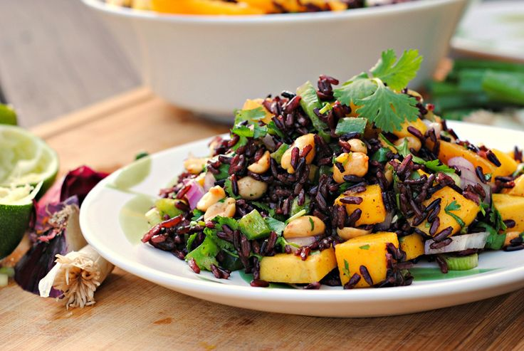 Black Rice Salad with Mango and Peanuts - Read More at Relish.com