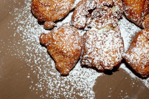 ricotta lemon fritters + meyer lemon curd