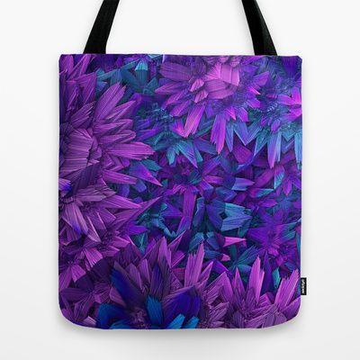 Purple Jungle Tote Bag