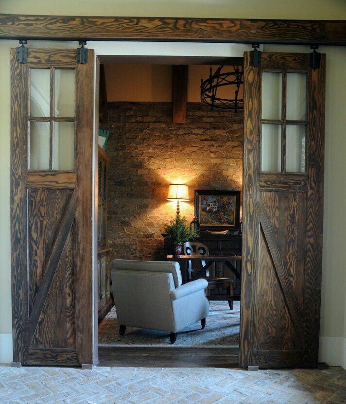 Barn doors office entry laundry room pinterest for Exterior utility room door