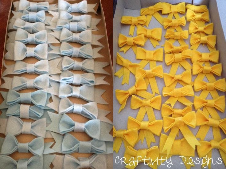 diy felt bows bow ties baby shower decorations