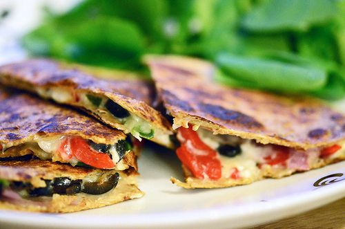 Spinach and Feta Quesadillas | My kind of food. | Pinterest