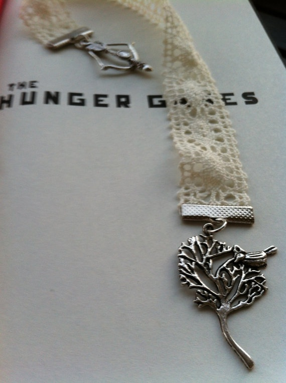 Lace Hunger Games Bookmark! New on ETSY