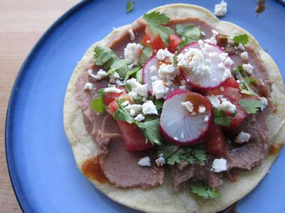 Sweet Luvin' In The Kitchen: Chipotle Bean Tostadas