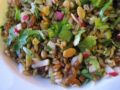 Spelt Pilaf with Pickled Radish, Pumpkin Seeds, Golden Raisins ...