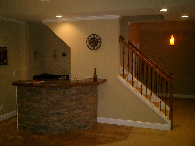 Free Standing Bar In Front Of Built In Diy Pinterest