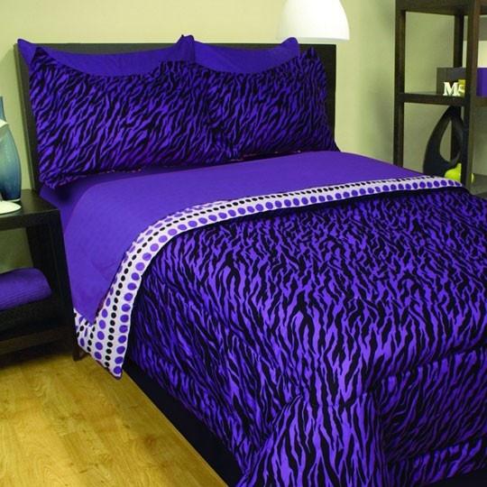 Zebra purple bed in a bag wow pinterest