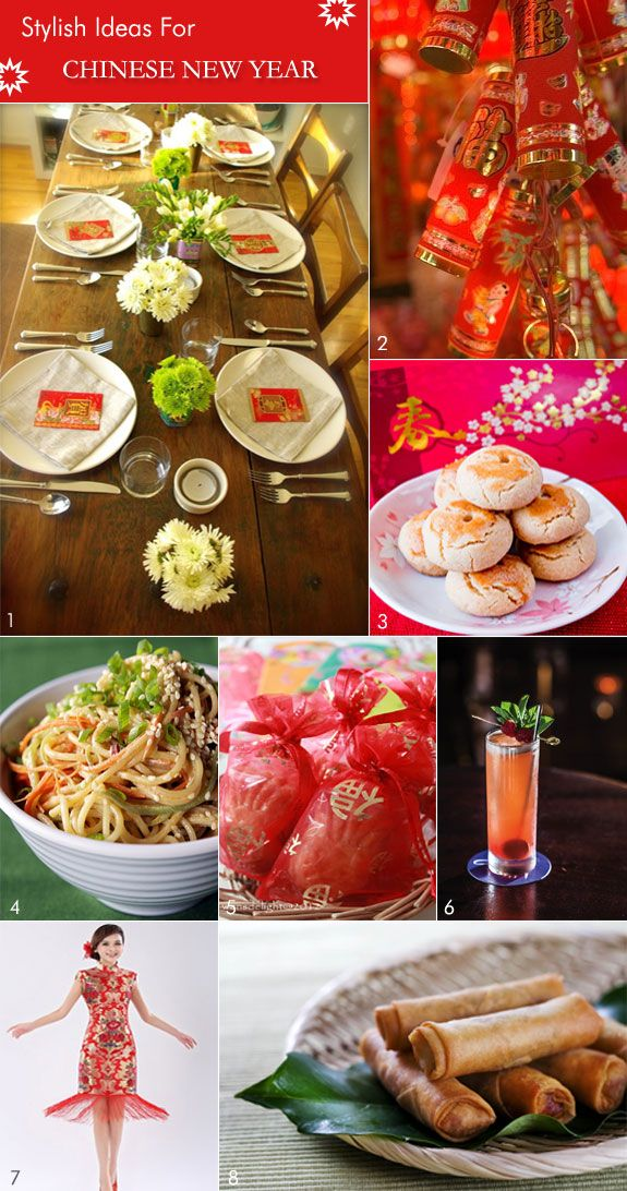 ... New Year party ideas from table decor ... | CHINESE NEW YEAR