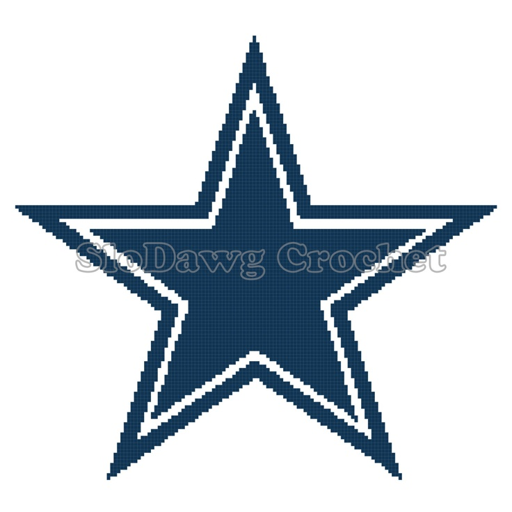 Dallas Cowboys Logo  crochet graph pattern by SloDawgCrochet, $3.50