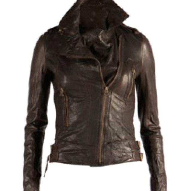 Dark Brown Leather Jacket   Fashion   Pinterest