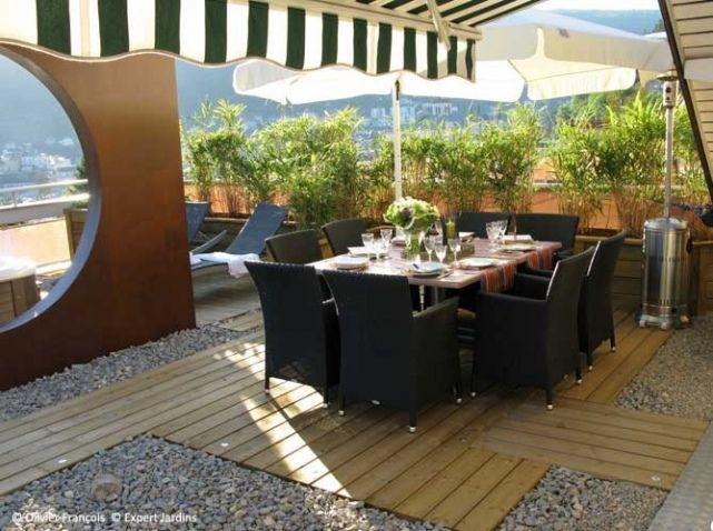 une terrasse zen en plein Jura  Outdoor Inspiration  Pinterest