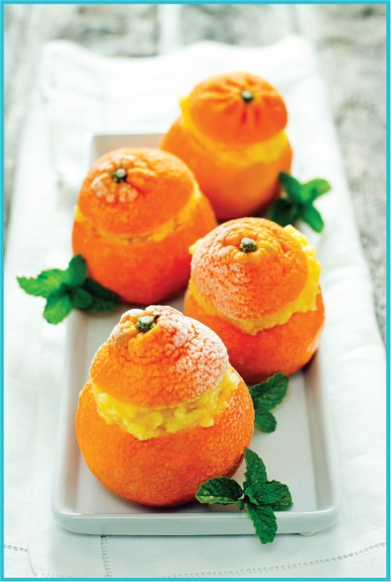 Clementine Sorbet by todaysnest: This little serving of sorbet is ...