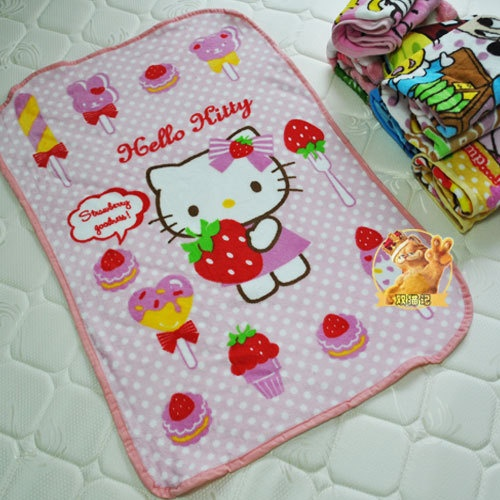 Hello Kitty camp bed car Fleece Baby Blanket Scenic cover throw Small ...
