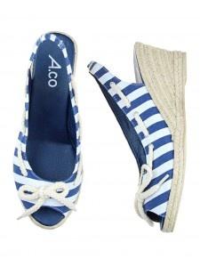Nautical wedge sandals - Footwear