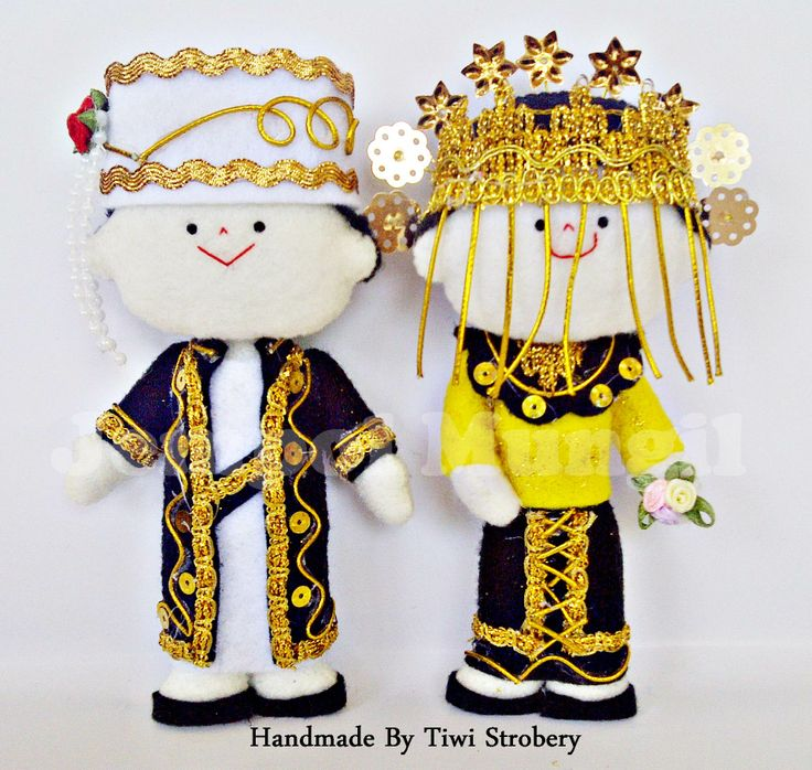 This Is Wedding Doll From Felt