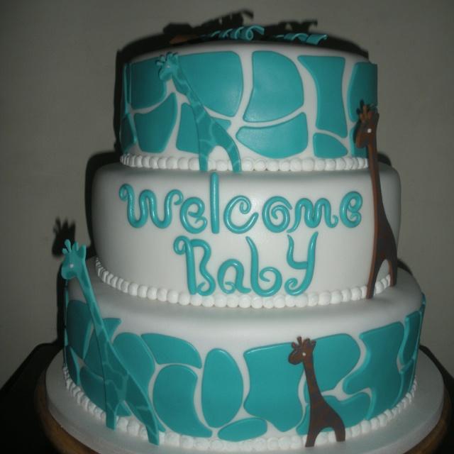 giraffe baby shower cake affairs feasts shindigs pinterest