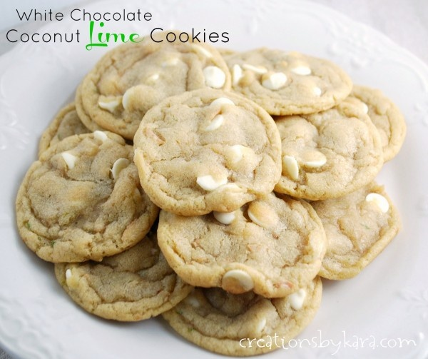 White Chocolate Coconut Lime Cookies by creationsbykara. These cookies ...