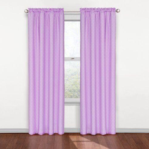 Eclipse Kids Polka Dots Blackout Window Curtain Panel, Purple by ...