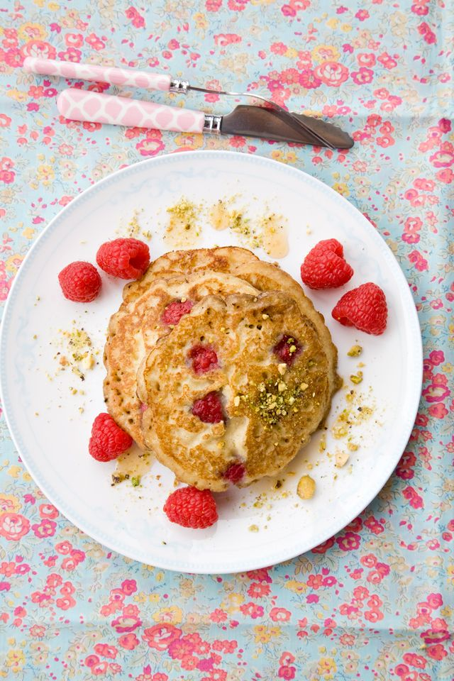 almond and raspberry pancakes  {gluten-free} @ Jen | Tartine & Apron Strings