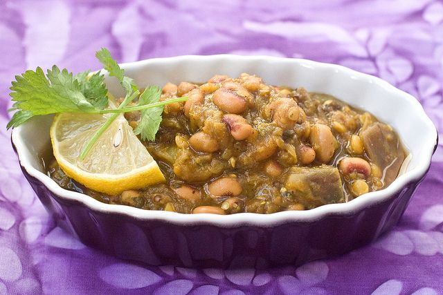 Eggplant & Black Eyed Pea Curry Recipe - I increased the curry & the ...