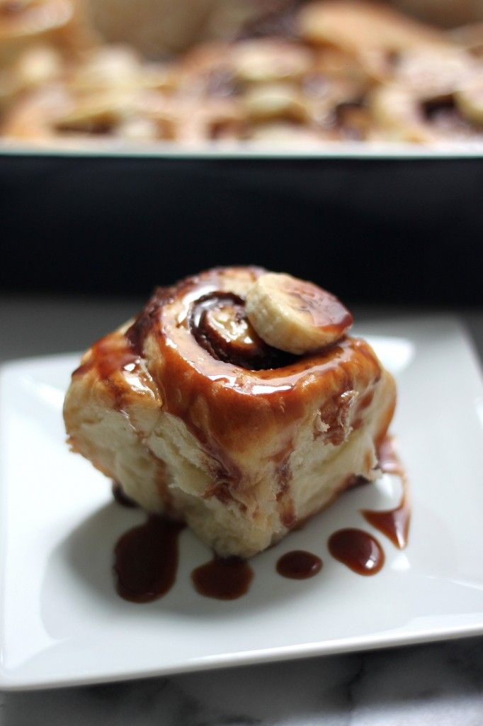 Nutella Stuffed Banana Sticky Buns | Yummy | Pinterest