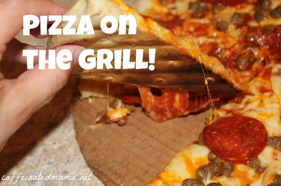Pizza on the grill is SO GOOD! Check out our experience here: http ...