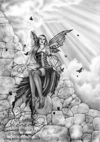 Adult Realistic Dark Evil Angel Coloring Pages