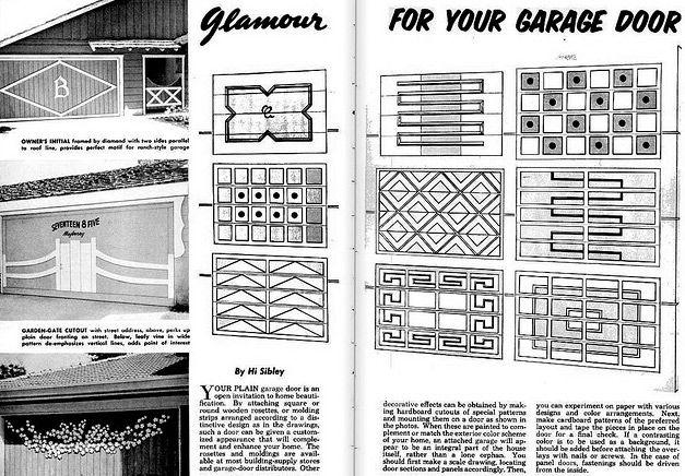 Mid century garage door patterns home ideas pinterest for Garage door patterns