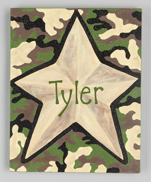 Look At This Camo Star Personalized Canvas Wall Art On Zulily Today