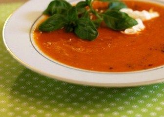 Roasted Red Pepper & Sweet Potato Soup | Recipe