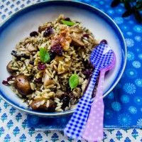 Wild Rice with Cranberries, Mushrooms, & Walnuts EVOO= extra virgin ...