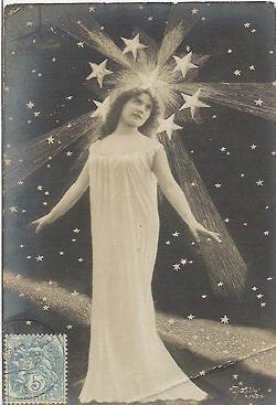 Vintage star goddess post card | Vintage Photos | Pinterest
