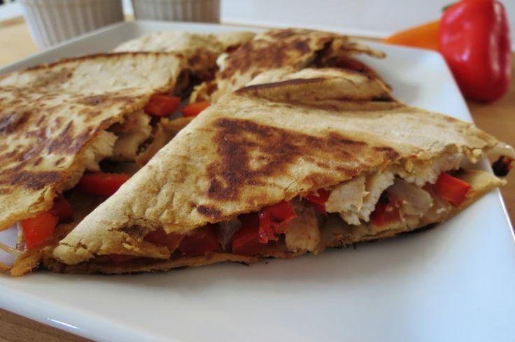 Chicken Fajita Quesadilla - A healthy, quick spin on the traditional ...
