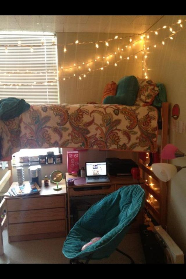 Decorating Ideas > Cute Dorm Room! Love The Lights! ~ 194642_Neat Dorm Room Ideas