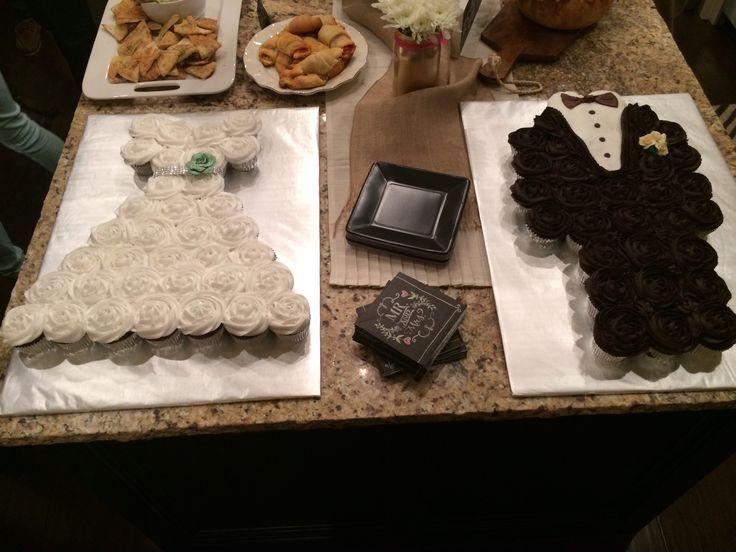Groom Tuxedo Cupcake Cake