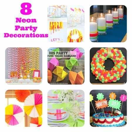 Neon party decorations fluro ideas for now pinterest