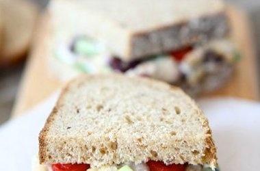 Smashed Chickpea Greek Salad Sandwich | Food | Pinterest