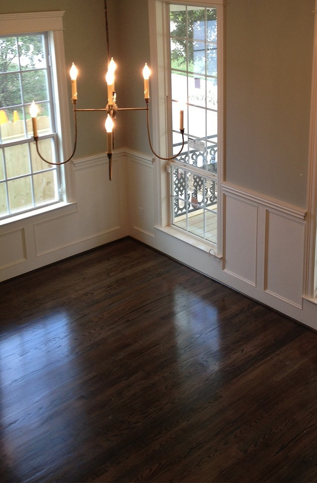 dining room floors and wainscoting formal dining room