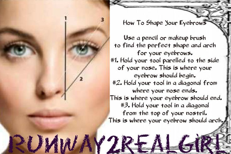 How to: shaping eyebrows : Makeup tips : Pinterest
