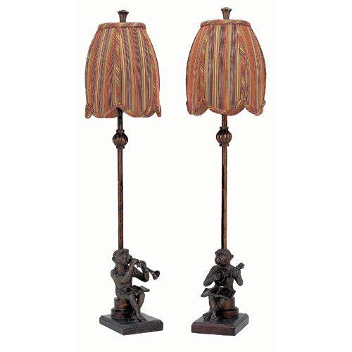 monkey buffet lamp set of 2 old world designs lamp sets. Black Bedroom Furniture Sets. Home Design Ideas