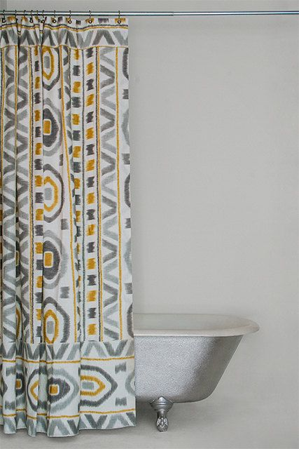 blue and gray linen shower curtain the michelle