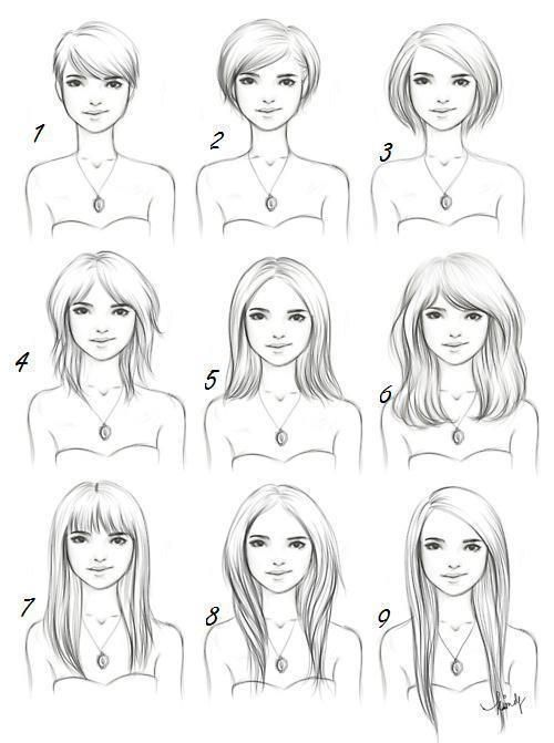 Hair Styles Drawing Reference Guide Drawing R - Hairstyle boy drawing