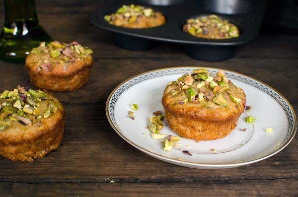 Pistachio Olive Oil Mini Tea Cakes | Running Blonde